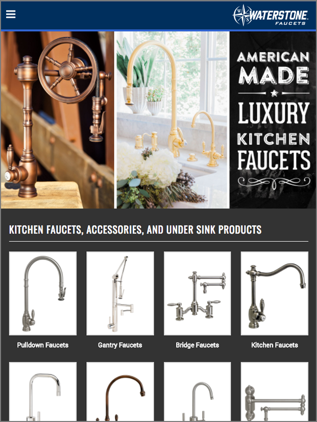 Waterstone Faucets- screenshot