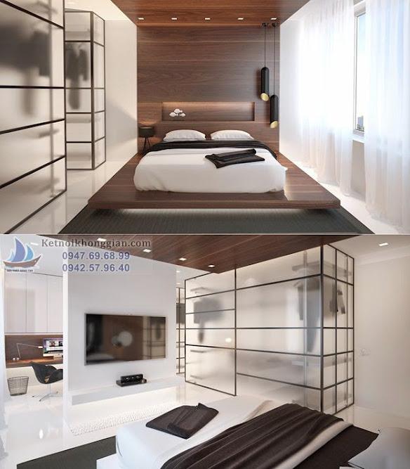 thiết kế phòng ngủ với tủ áo cá tính
