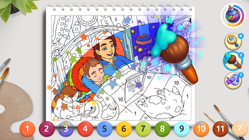 Color Stories: coloring casino & paint art gallery  screenshots 6