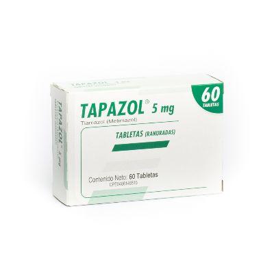 Tiamazol Tapazol 5mg x 60 Tabletas Farma 5mg x 60 Tabletas