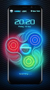 Fidget Spinner Fingerprint Lockscreen - náhled