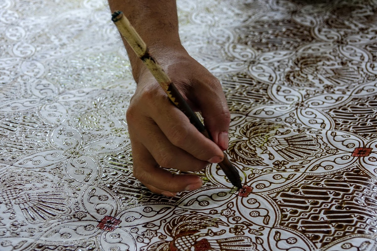 Indonesia. Crafts . Batik Hand Painting.
