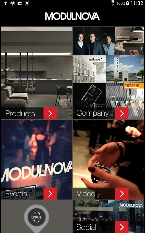 Modulnova news- screenshot