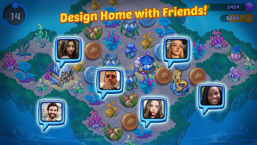 Merge Mermaids-design home&create magic fish life. 1.0.2 screenshots 5