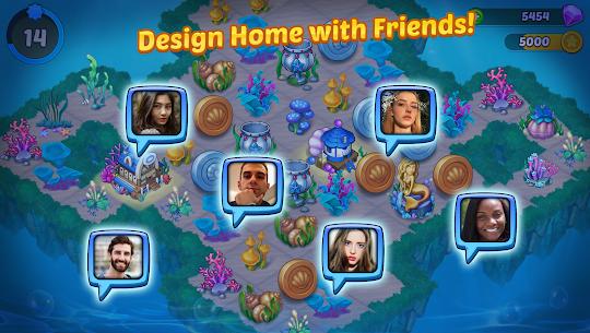 Merge Mermaids-design home&create magic fish life MOD (Purchase) 5