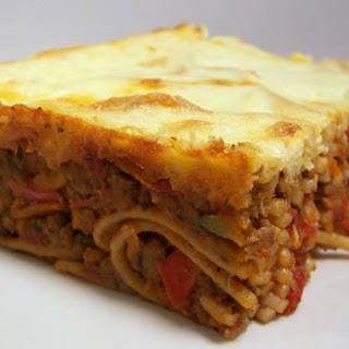 Chicken Spaghetti Cake