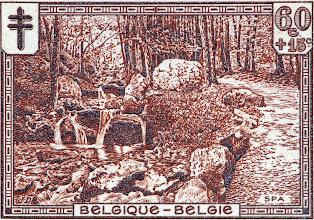 """Photo: """"Les sites"""" (2-12-1929). Promenade d'Orléans à Spa."""