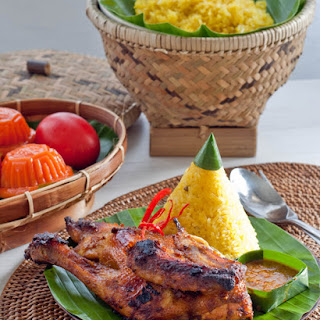 Indonesian Grilled Chicken and Turmeric Sticky Rice