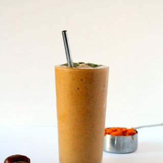 Pumpkin Chai Protein Smoothie.