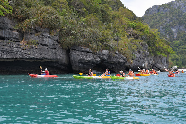Kayak along the islands and enter small caves