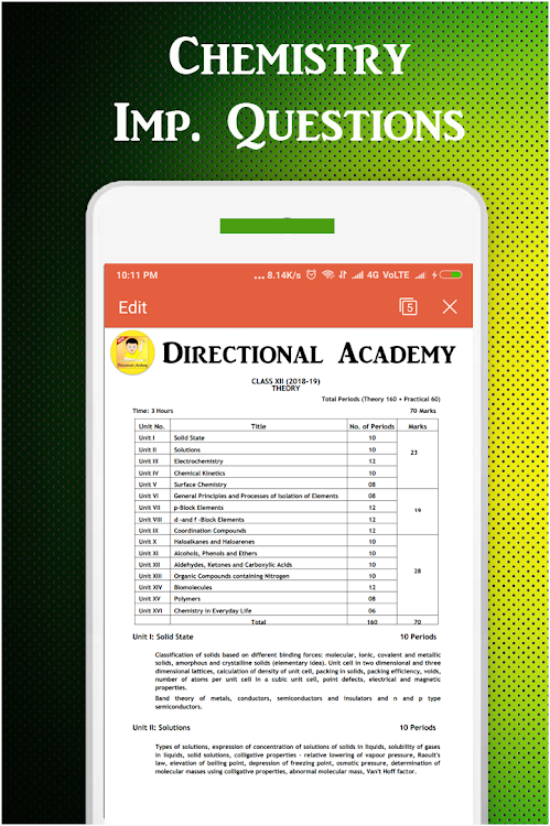 Class 12 Chemistry Exam Guide 2019 (CBSE Board) – (Android