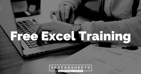 Free Excel Training By Spreadsheeto For All Skill Levels