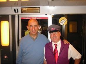"""Photo: Président Gallois vous resterez dans la mémoire des cheminots, il nous a répondu : """" mais j'aime la SNCF """""""