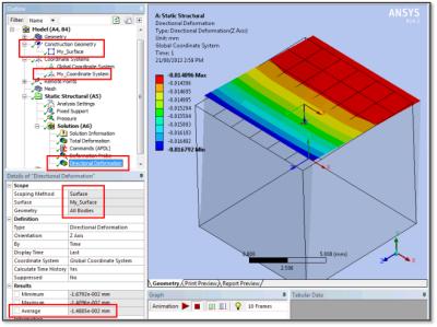 ANSYS - Измерение с помощью вспомогательной плоскости (Construction Geometry Surface)