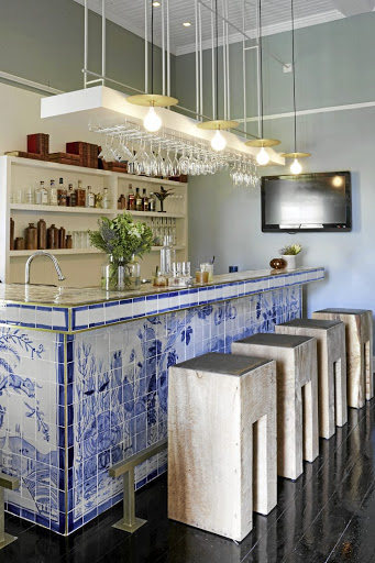 The Em Bar with its handpainted tiles by Michael Chandler. Picture: MICKY HOYLE