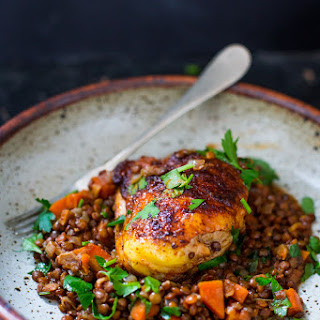 Berbere Chicken with Ethiopian Lentils.