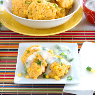 Curry Corn Fritters with Cilantro-Coconut Dipping Sauce