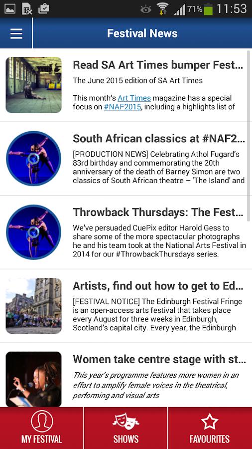 National Arts Festival - screenshot