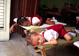 Photo: kids napping in cuba. Tracey Eaton photo
