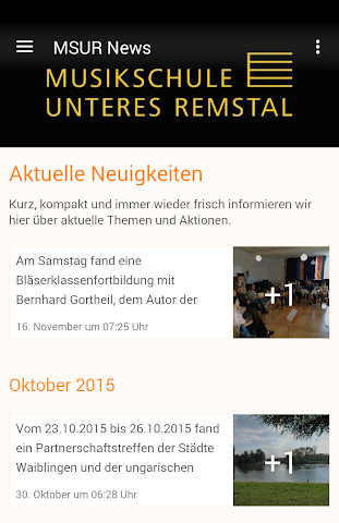 android Musikschule Unteres Remstal Screenshot 0
