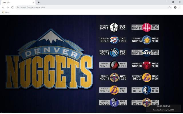 Denver Nuggets New Tab
