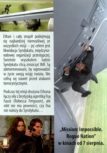 Tył ulotki filmu 'Mission: Impossible - Rogue Nation'
