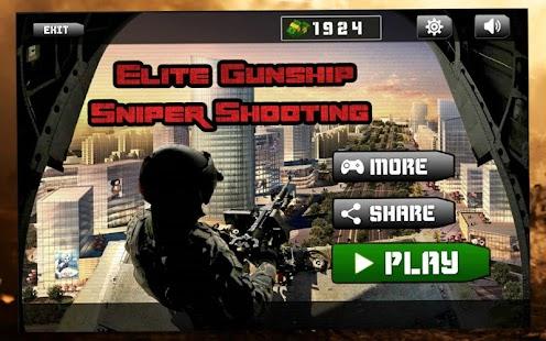 Elite Gunship Sniper Střelba Hit vnějšího světa - náhled