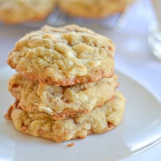 Toffee, Macadamia and White Chocolate Chunk Cookies