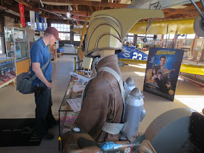 Photo: James W. checking out the Rocketeer memorabilia... some of the movie was filmed here at Santa Maria Airport, CA