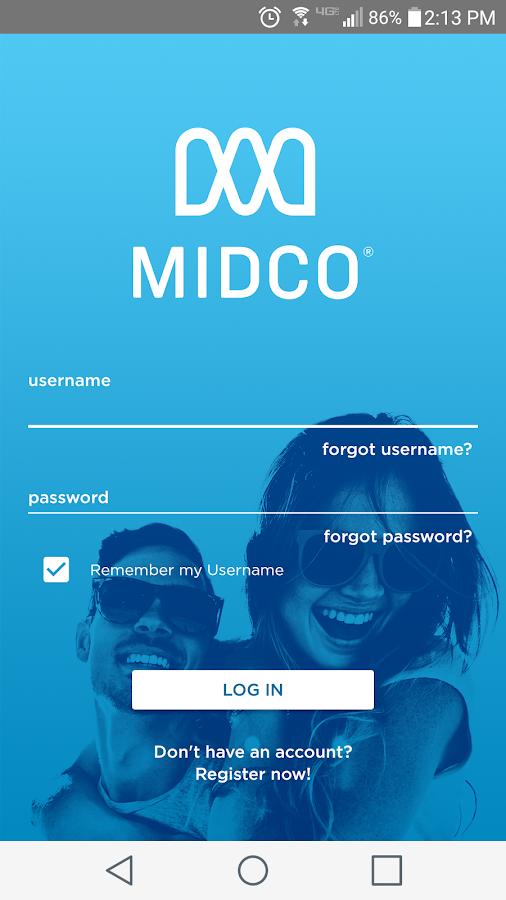 Midco My Account- screenshot