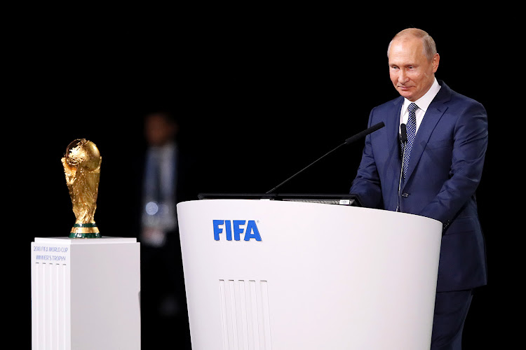 President of Russia, Vladimir Putin addresses the 68th FIFA Congress