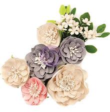 Prima Spring Farmhouse Fabric Flowers 12/Pkg - Simple Things UTGÅENDE