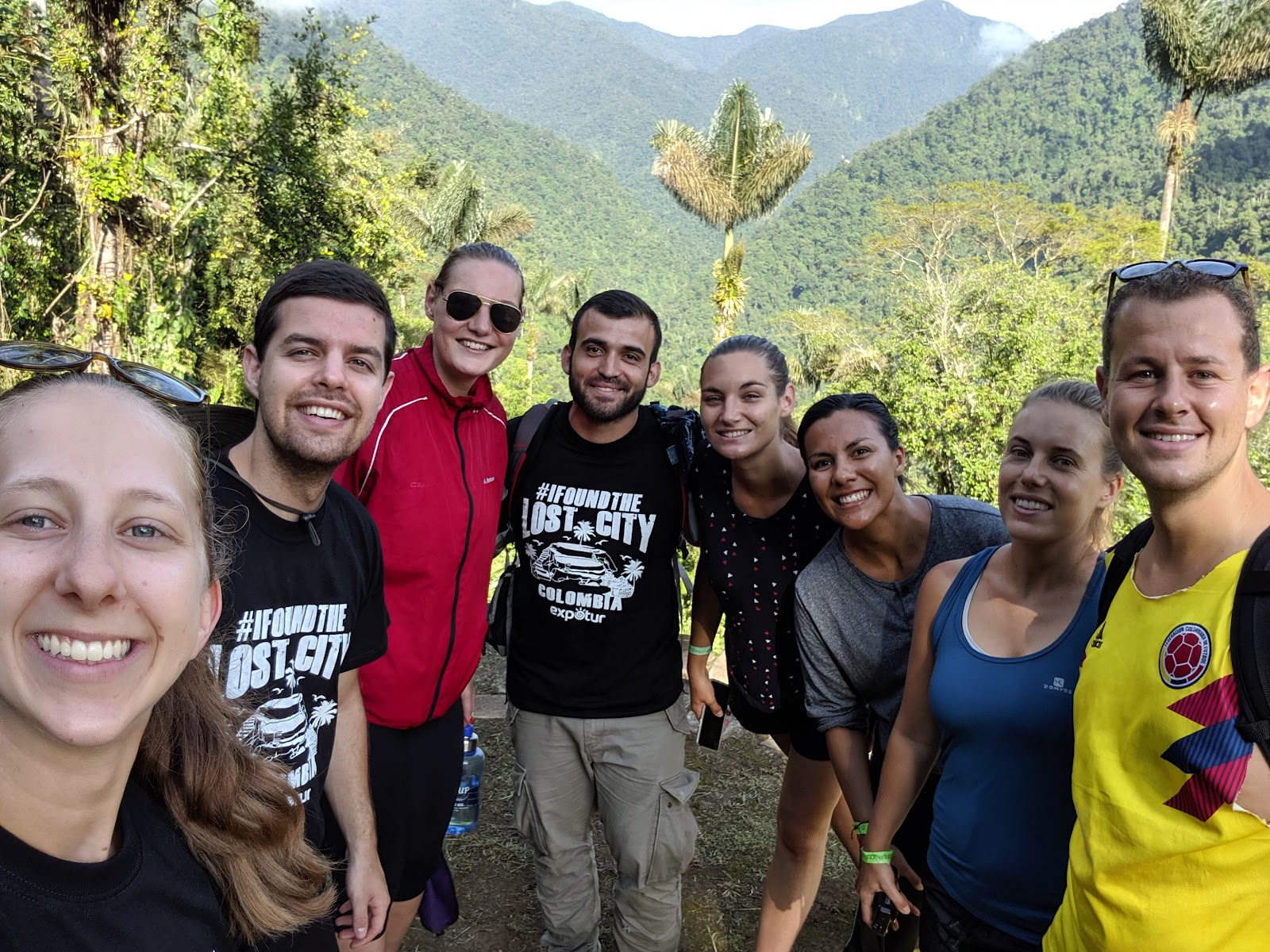 Brandon, Erin, and friends from the Lost City Trek with Expotur in Colombia.