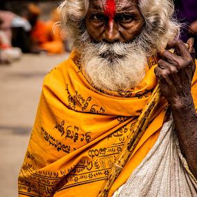 The Holy Saint of Ahobilam... by Dharmesh Daula - People Portraits of Men