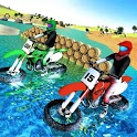 Beach Water Surfing Games: Bike Race icon