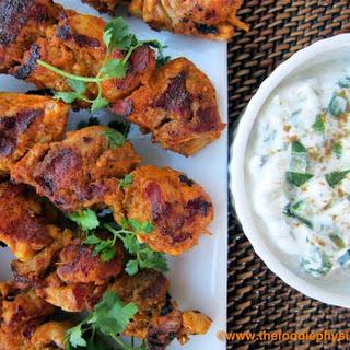 Tandoori Chicken Kabobs.