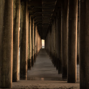 Warp Speed by Kelly Hulme - Landscapes Sunsets & Sunrises ( california, waves, sunset, long exposure, boardwalk )