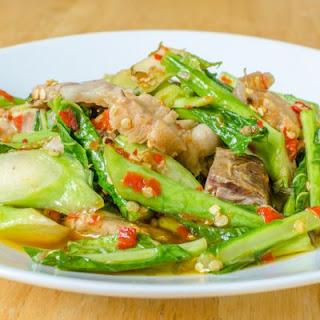 Crockpot Fiery Pork and Bok Choy Stir-Fry