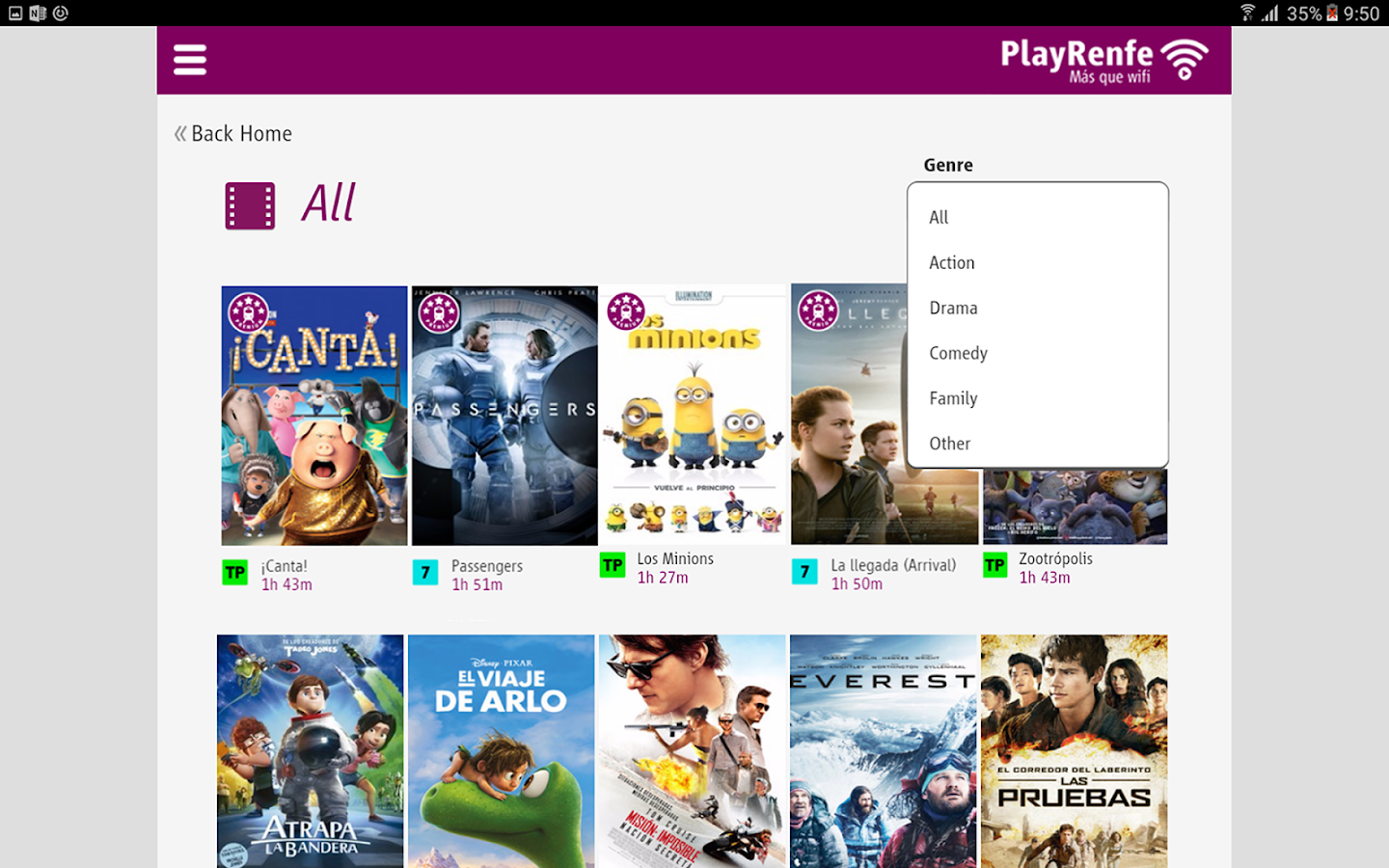 PlayRenfe- screenshot