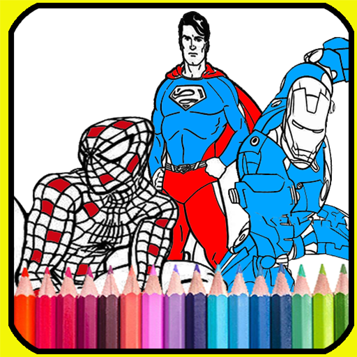 coloring book for super heros 2019