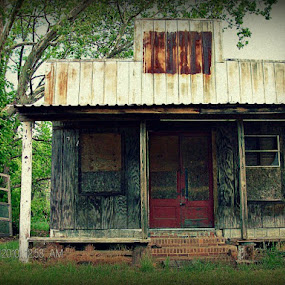 Abandoned by Regina Watkins - Buildings & Architecture Other Exteriors ( post office, old, store, weathered, abandoned, , country, rustic, rural, backroads, barn, silo, farm, crops, family, building )