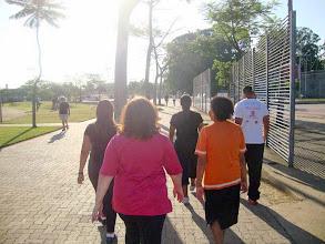 Photo: Caminhada monitorada feita no Parque da Juventude, zona norte da capital