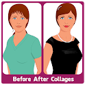 Before After Collage Save Publish Print icon