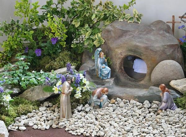 A more elaborate Easter Garden