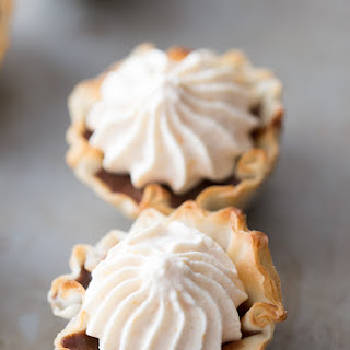 Mini Nutella No Bake Pies with Pumpkin Whipped Cream.