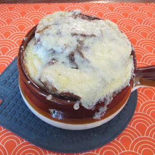 Can't Be Afraid of the Gruyere French Onion soup