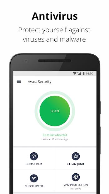 Avast Antivirus – Mobile Security & Virus Cleaner Android App Screenshot