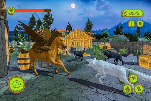 Flying Unicorn Horse Family Jungle Survival 4.0 screenshots 9