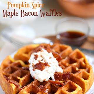 Pumpkin Spice Maple Bacon Waffles