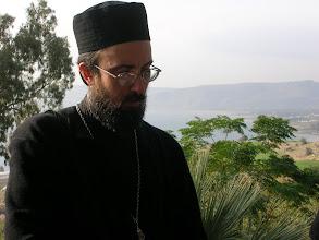 Photo: reading the Beatitudes on the mountain